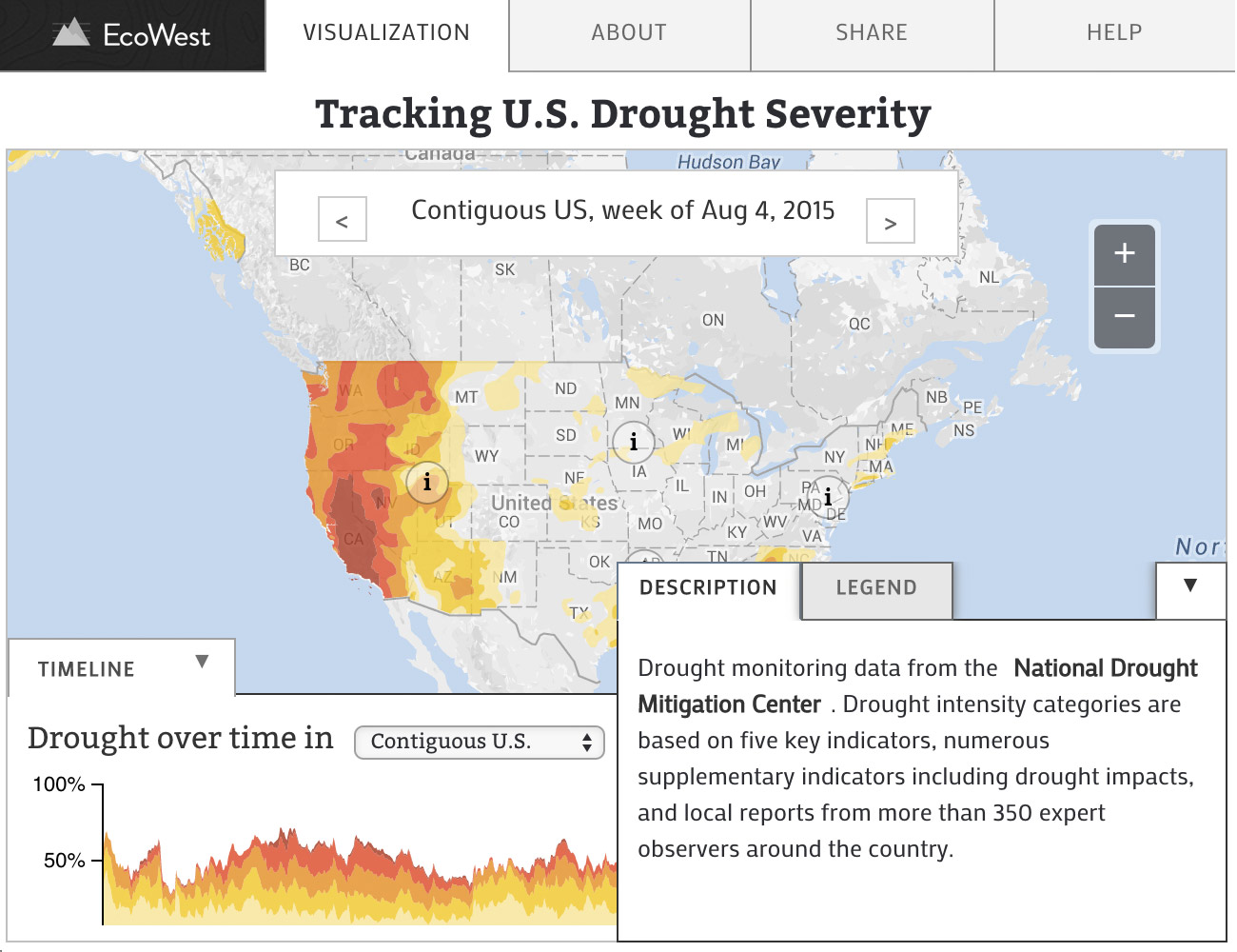 Weekly Drought Reports from US Drought Monitor EcoWestorg